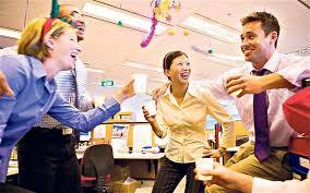 festa no trabalho