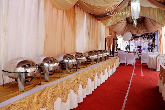 tenda dekorasi resepsi pernikahan rumah