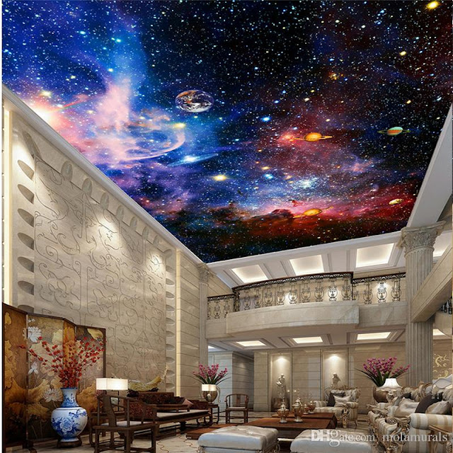 Amazing universe false ceiling design ideas image