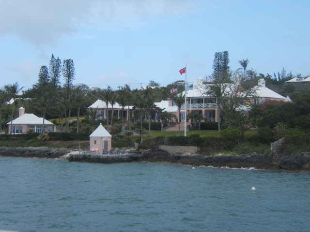 Pink house in Bermuda