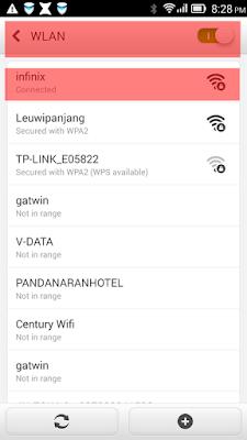 Aktifkan Wifi Pada Smartphone Client, dan hubungkan dengan Smartphone Server (Langkah 2)