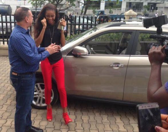 2017 MBGN Winner Ugochi Receives Her Official Car (Pics)