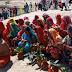 गाजे बाजे के साथ निकला लक्ष्मी नारायण महायज्ञ का जल कलश यात्रा जुलुस