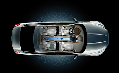 Jaguar XJ premium luxury sedantop view hd image