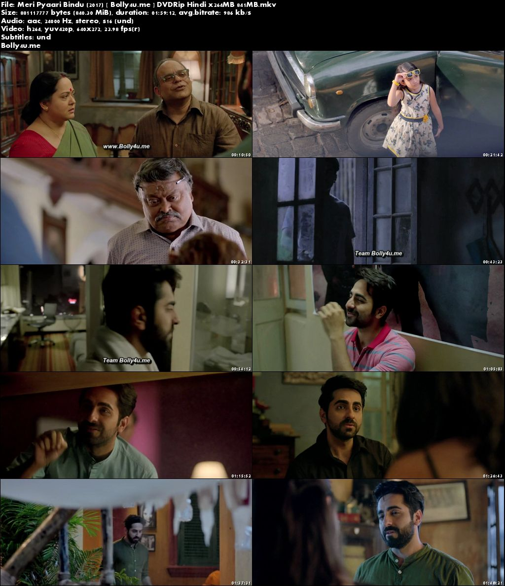 Meri Pyaari Bindu 2017 DVDRip 350Mb Full Hindi Movie Download 480p