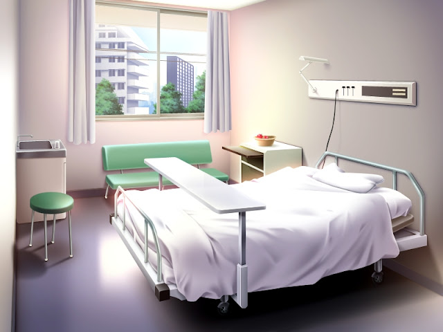 Hospital Room with nice Views (Anime Background)