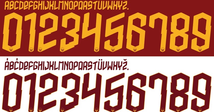 FONT FOOTBALL: Font Vector AS Roma 2019 2020 kit
