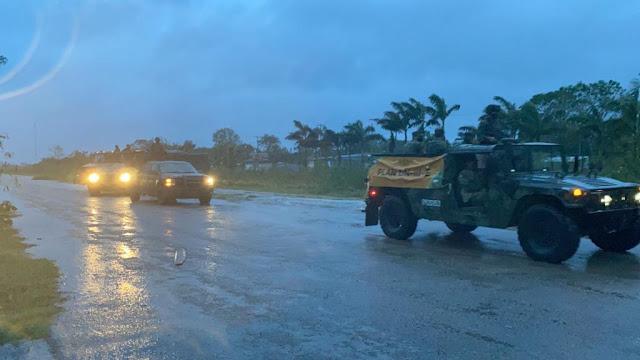 Fotos: Personal militar recorre municipios afectados por Zeta en Yucatán