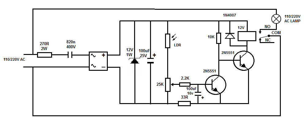 110/220v Aoutomatic light switch (Photocell) ~ Simple Projects