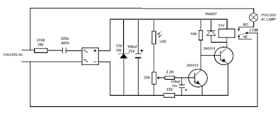 110/220v Aoutomatic light switch