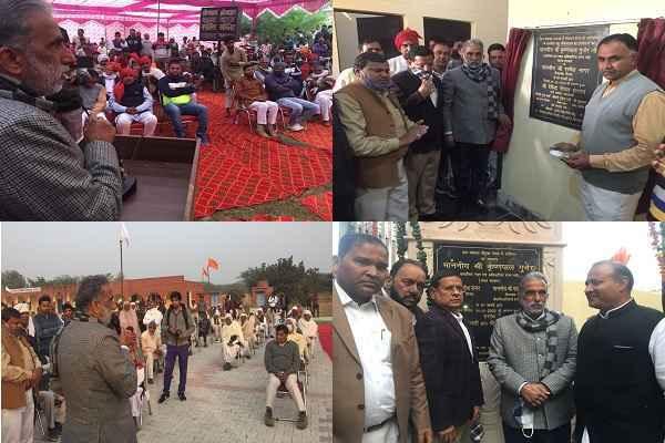 faridabad-mp-minister-krishan-pal-gurjar-arua-mothuka-development-work