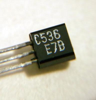 Macro image of a 2SC536 transistor