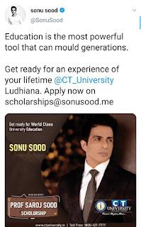 sonu sood scholarship email