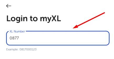 masukkan nomor xl