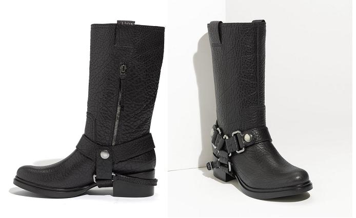 947480948ae2 Leather harness boots by Miu Miu