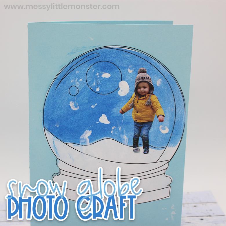 Snow globe template craft