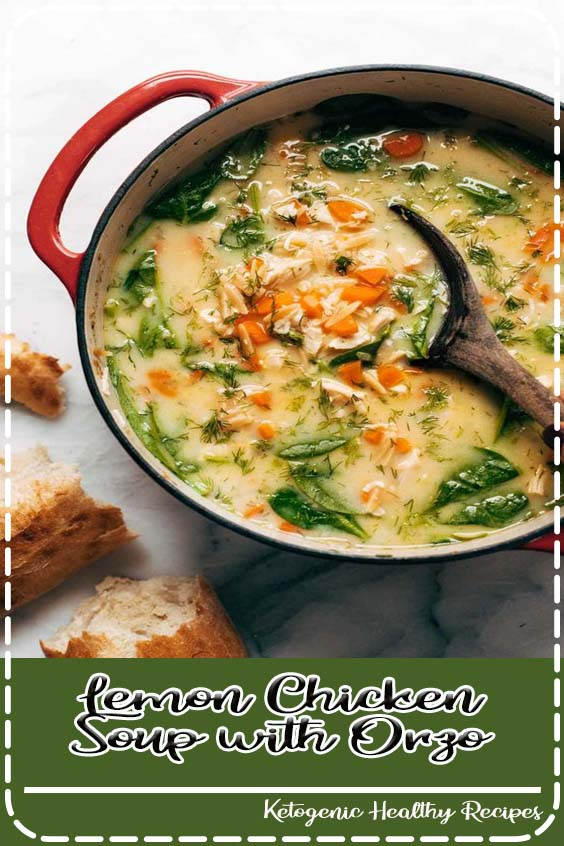 and vibrant lemony chicken soup made creamy with NO CREAM and a secret ingredient Lemon Chicken Soup with Orzo