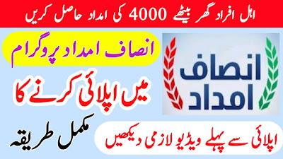 How To Apply In Insaf Imdad Program In Punjab Complete Detail - Insaf Imdad Program Mai Apply Ka Tarika
