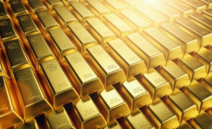 Ganancias de futuros de oro para la sesión, caída del mes