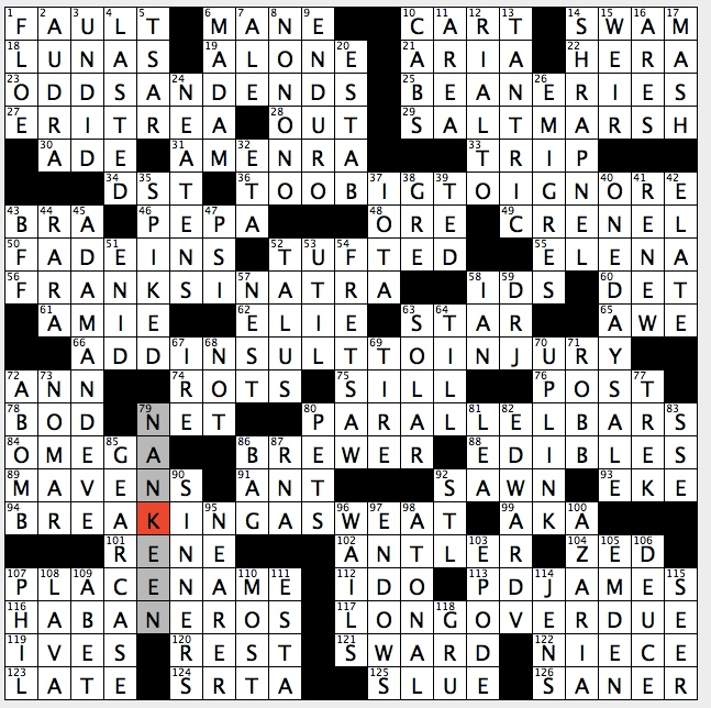 Rex Parker Does The Nyt Crossword Puzzle Sandra Denton In Hip Hop S