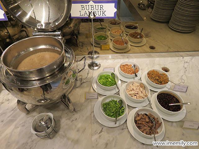 Bubur Lambuk and the ingredients