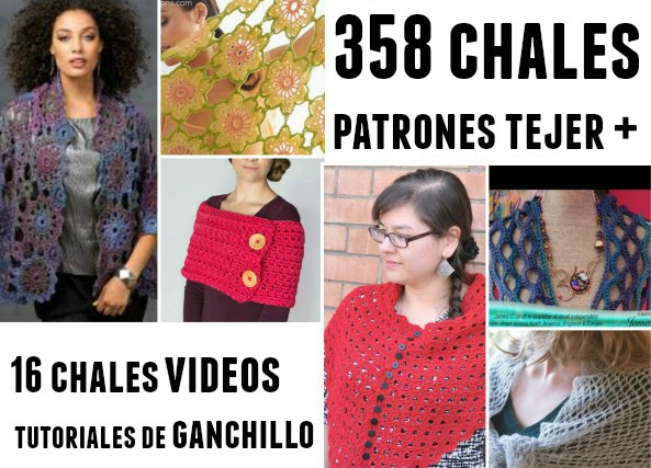 Chales de ganchillo en total 373 patrones y tutoriales