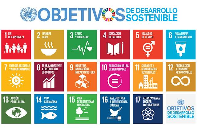 Los ODS o 17 Objetivos de Desarrollo Sostenible.