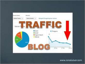 Penyebab Traffic Blog Menurun Drastis