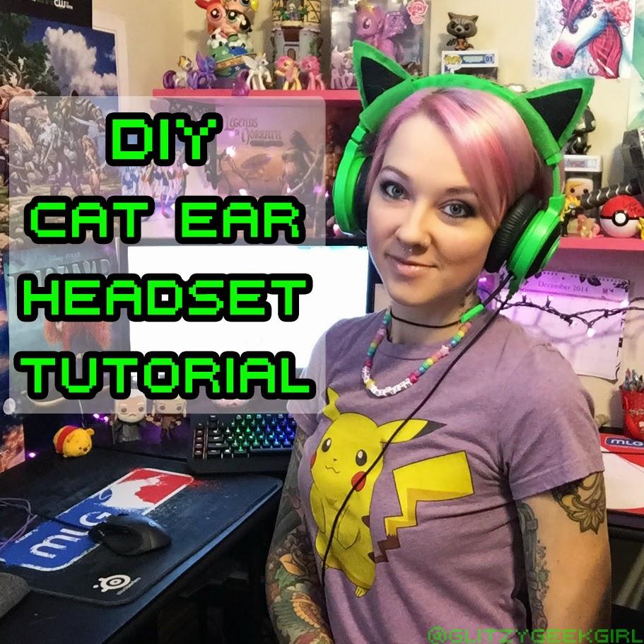 Omglitzy Tutorial Diy Felt Cat Ear Headset