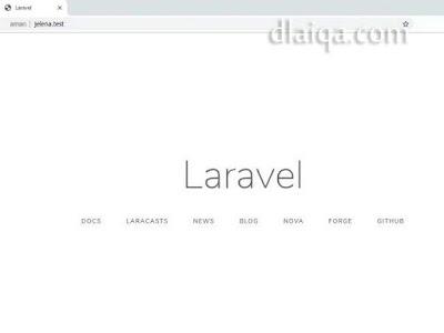 tampilan Laravel pada browser