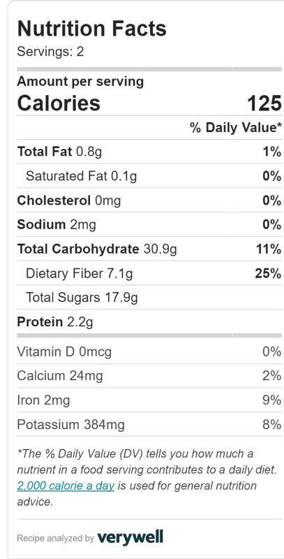 Three ingredient banana berry nice cream nutritional information
