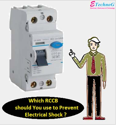 rccb for electrical shock