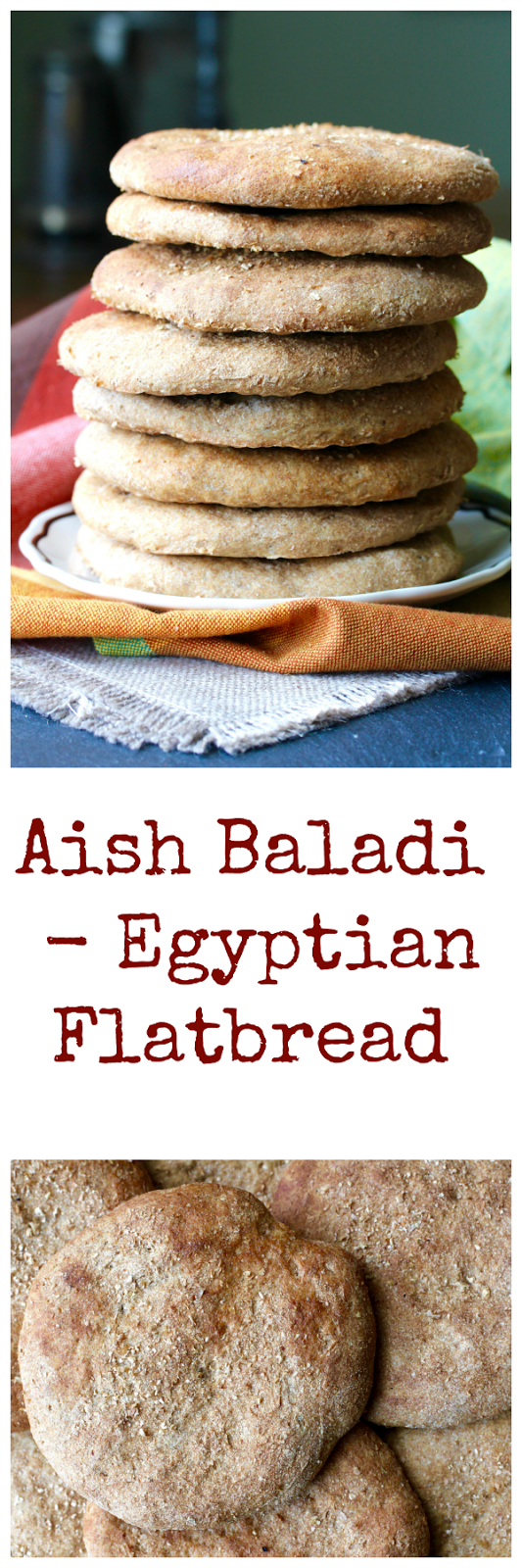 Aish Baladi is an Egyptian whole wheat flat bread that looks a lot like pita bread, but is unique to Egypt.