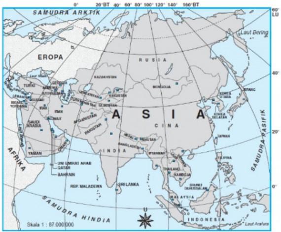 Letak Astronomis Benua Asia Beserta Pengaruh, Iklim & Batas Wilayahnya