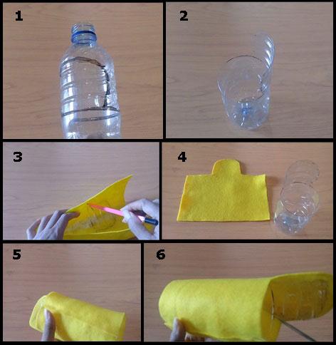 Ide Kreatif Membuat Tempat Pensil Lucu Unik Dari Botol Bekas