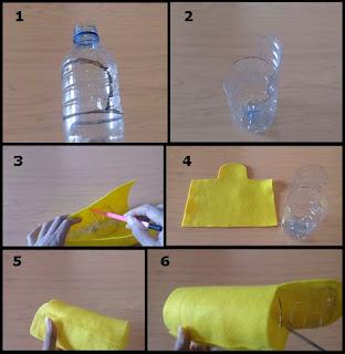 Tutorial Tempat Pensil Lucu Unik dari Botol Bekas bagian 1
