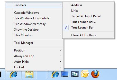Ultramon Smart Taskbar pada Windows 7