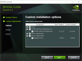 Deselect the GeForce Experience and Display Driver components