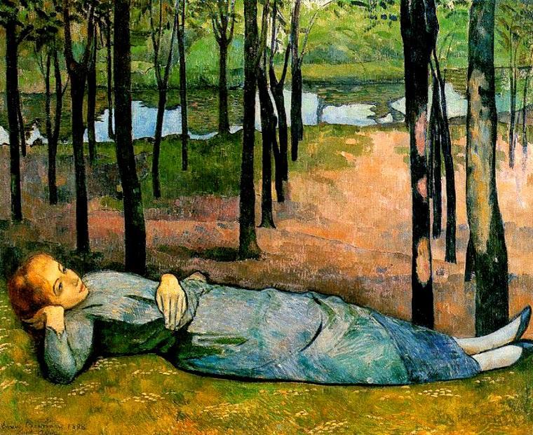 Madelaine na Floresta - Émile Bernard e suas principais pinturas