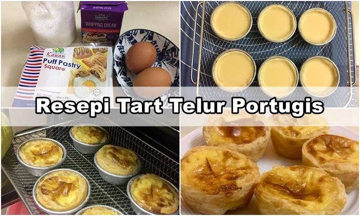 Resepi Tart Telur Portugis Puff Pastry