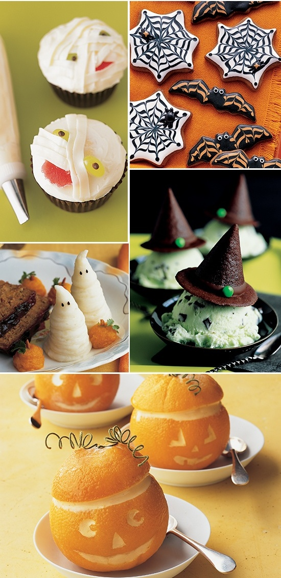 Easy Halloween treat ideas for kids. 18 Creative Halloween DIY Dessert Ideas for party. Simple Halloween food ideas for party. Spooky Halloween treat ideas. Spider web and bats cookies for treats, Best Halloween dessert table food decoration ideas. Halloween tricks and treats food ideas. Halloween food and drinks ideas.