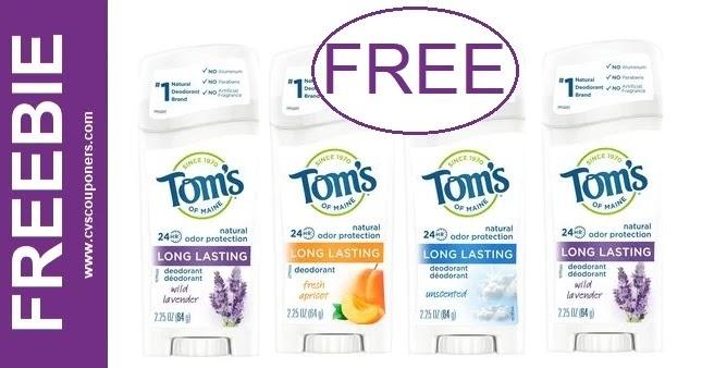 FREE Toms Of Maine Deodorant at CVS