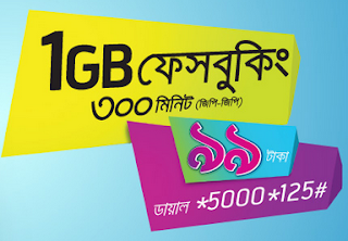 1GB FB with 300 GP Minutes Grameenphone Offer