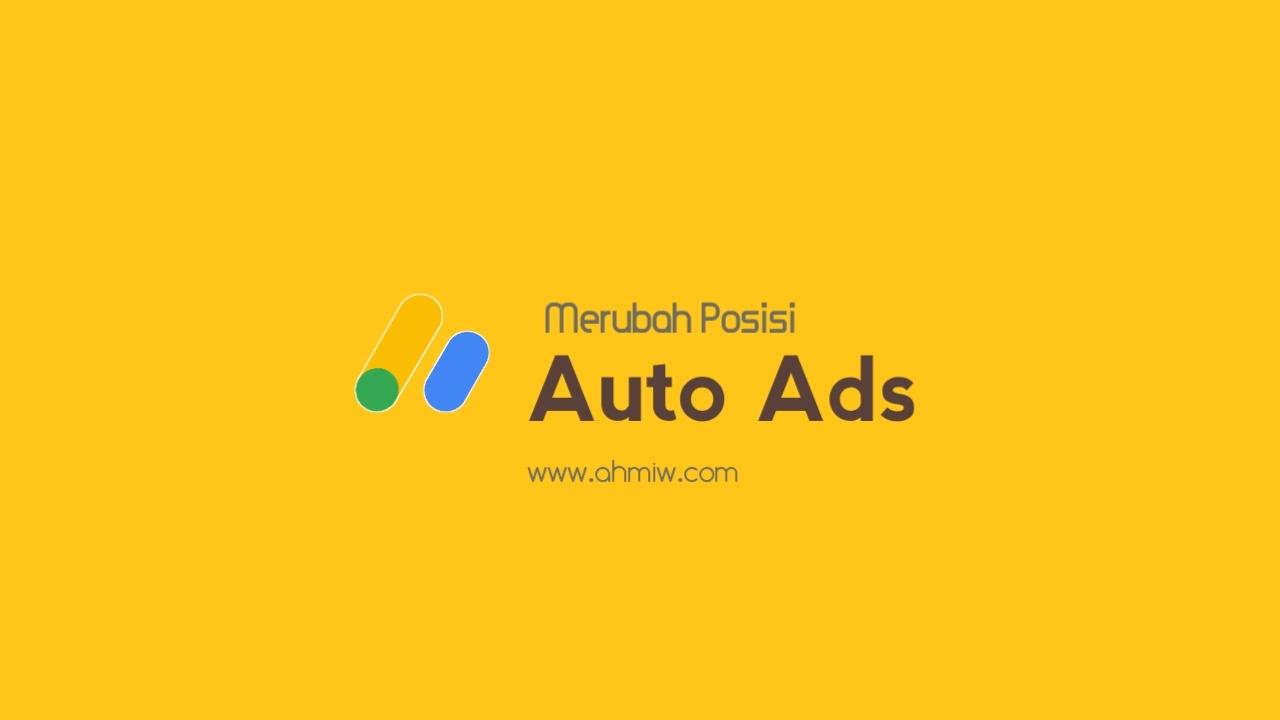 Merubah posisi iklan otomatis ke bawah