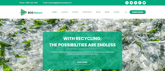 Best Nonprofit Environment WordPress Themes With Donation System | Eco Nature