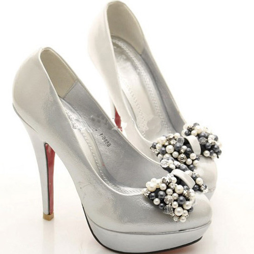 Bridal Shoes Silver: Wedding Lady: Beautiful Silver Wedding Shoes