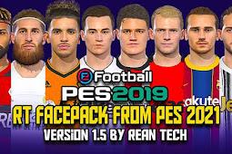 RT Facepack From PES 2021 V1.5 For - PES 2019 & PES 2018
