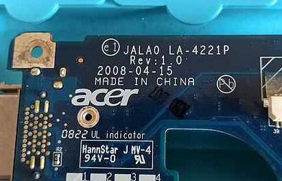 LA-4221P Rev 1.0 Compal JALA0 Acer Extensa 4230 Bios