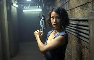 Lucy Liu, vampire, arbalète, rise blood hunter, La setta delle tenebre, A Predadora de Vampiros, Cazadora de sangre