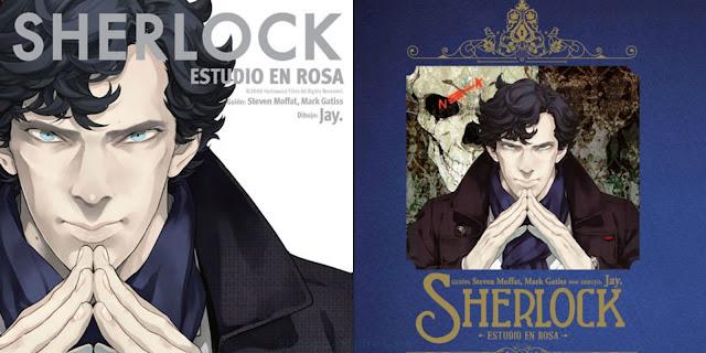 Sherlock: estudio en rosa. Portada manga